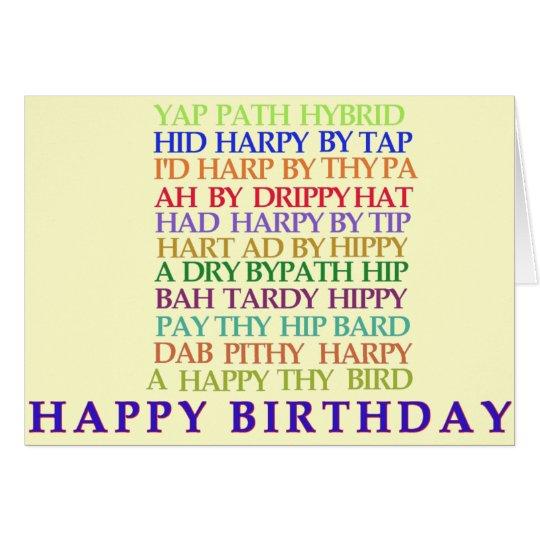 Birthday Anagram card