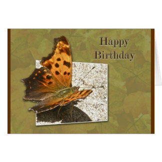 Birthday Angle Wing Comma Butterfly Card