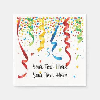 Birthday Anniversary Party Confetti Celebration Disposable Serviettes