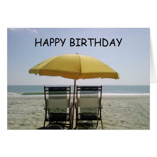 BIRTHDAY AT THE BEACH-ENJOY CARD