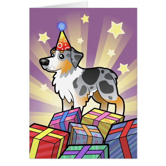 Birthday Australian Shepherd Card