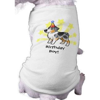 Birthday Australian Shepherd Sleeveless Dog Shirt