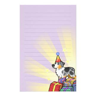 Birthday Australian Shepherd Stationery