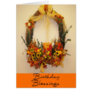 Birthday Autumn Blessings Greeting Card