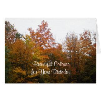 Birthday Autumn Greeting Card