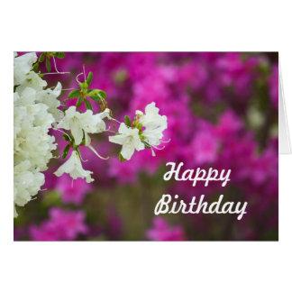 Birthday Azalea Card