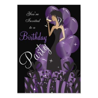 Birthday | Bachelorette Cocktail Girl's Party 13 Cm X 18 Cm Invitation Card