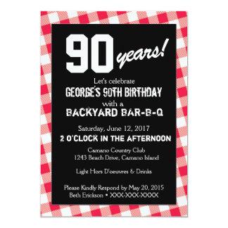 Birthday Backyard BAR-B-Q Invitation