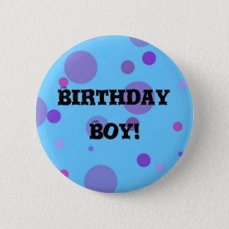 Birthday Badge Blue Polka Dots