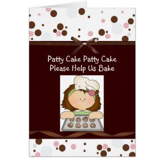 Birthday Baker Girl Cards