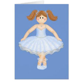 Birthday Ballerina Greeting Card