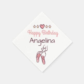 Birthday Ballet Little Ballerina Girl Party Decor Disposable Napkins