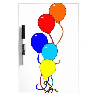 Birthday Ballons Dry Erase Board
