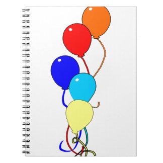 Birthday Ballons Spiral Note Books