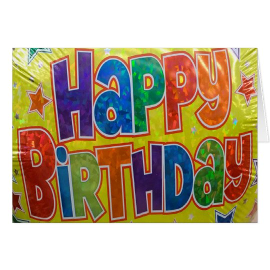 Birthday Balloon Generic Card