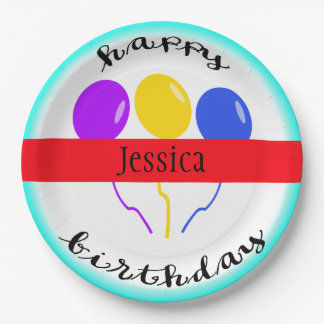 Birthday Balloon Paper Plates