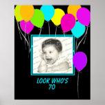 Birthday Balloon Photo Poster