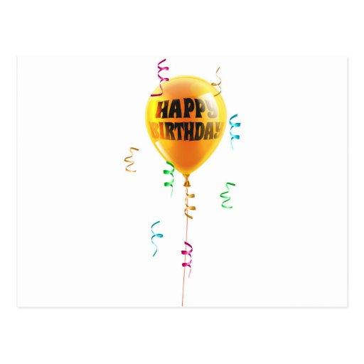 Birthday Balloon Postcards
