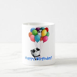 Birthday Balloons Panda Bear Basic White Mug