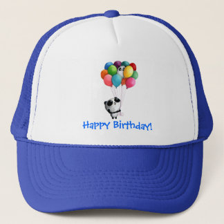 Birthday Balloons Panda Bear Trucker Hat