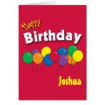 Birthday Balloons - Personalised Card
