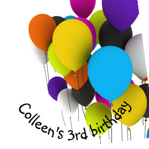 Birthday Balloons Personalized Plate