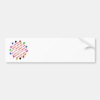 Birthday Balloons Photo Frame Bumper Stickers