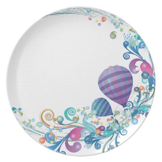 Birthday Balloons Plate