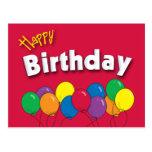 Birthday Balloons Postcard