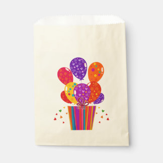 Birthday Balloons with Gift Favour Bags