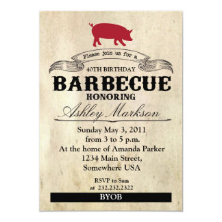 Birthday Barbecue Card