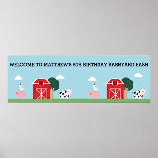 Birthday Barnyard Bash/Party Poster