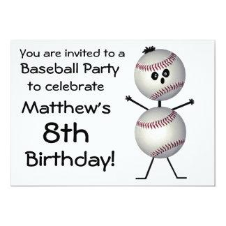 Birthday Baseball Party Invitation