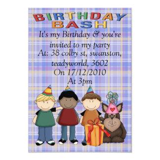 Birthday Bash 13 Cm X 18 Cm Invitation Card