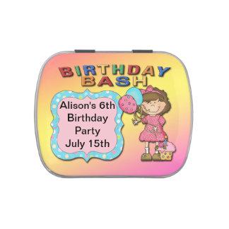 Birthday Bash Girl Rectangle-Shaped Candy Tin