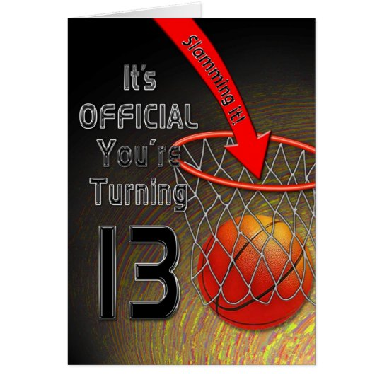 BIRTHDAY- Basketball - 13TH Card