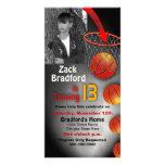 BIRTHDAY -  BASKETBALL -  INVITATION CUSTOM PHOTO CARD