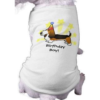 Birthday Basset Hound Sleeveless Dog Shirt