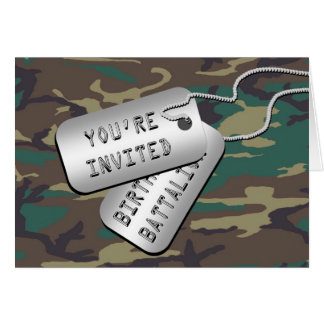Birthday Battalion Birthday Party Invitations