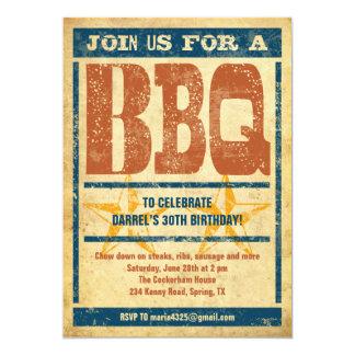 Birthday BBQ Invitations