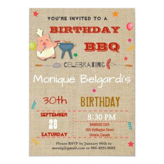 BIRTHDAY BBQ PARTY INVITATION | ANY AGE