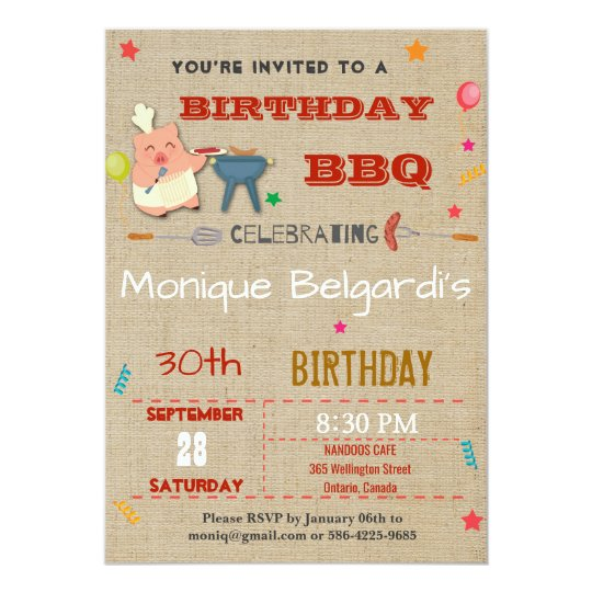 BIRTHDAY BBQ PARTY INVITATION | ANY AGE