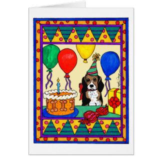 BIRTHDAY BEAGLE GREETING CARD