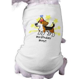 Birthday Beagle Sleeveless Dog Shirt