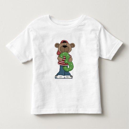 Birthday Bear 3 Toddler T-Shirt