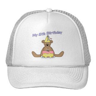Birthday Bear 5th Birthday Gifts Hats