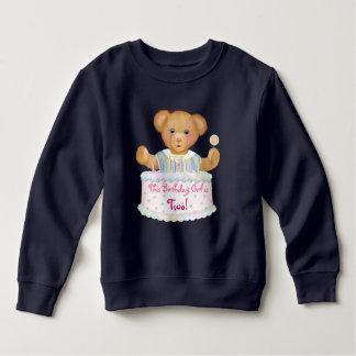 Birthday Bear Girl - Second Birthday Sweatshirt