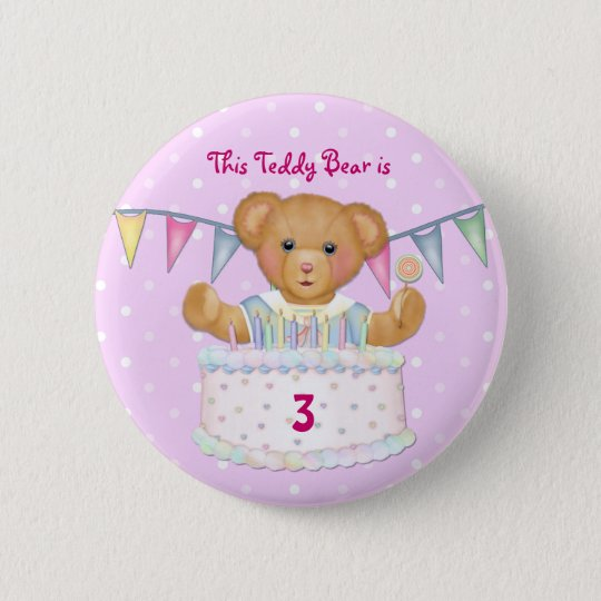 Birthday Bear Girl - Third - Customise Date