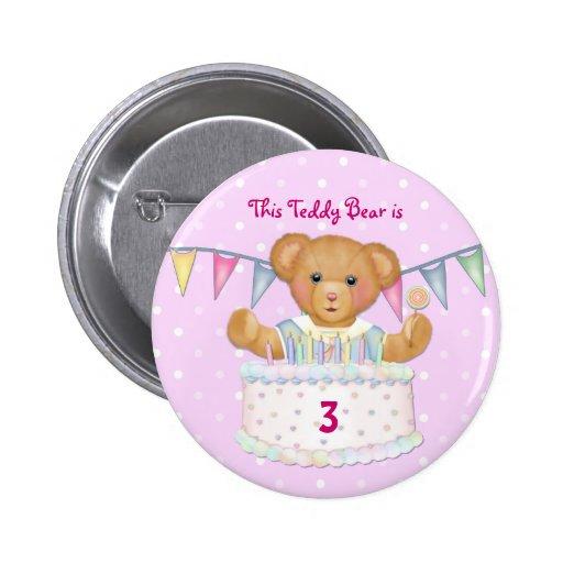 Birthday Bear Girl - Third - Customize Date Buttons