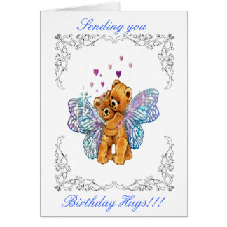 Birthday Bear Hugs Greeting Card